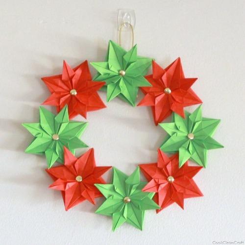 折り紙 ハロウィン リース 折り方niceno1Origami halloween wreath tutorial