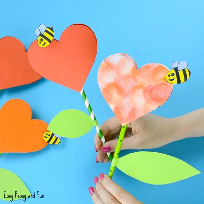 Www Easypeasyandfun Com Paper Heart Flower Craft