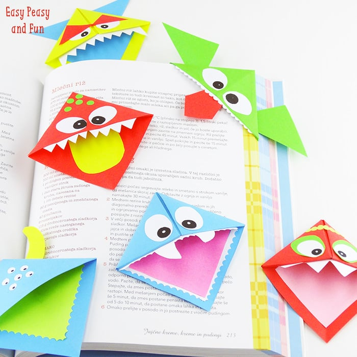 Make Easy Origami Bookmarks for Kids Free printable